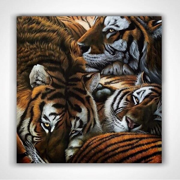 Original tiger oil painting for sale